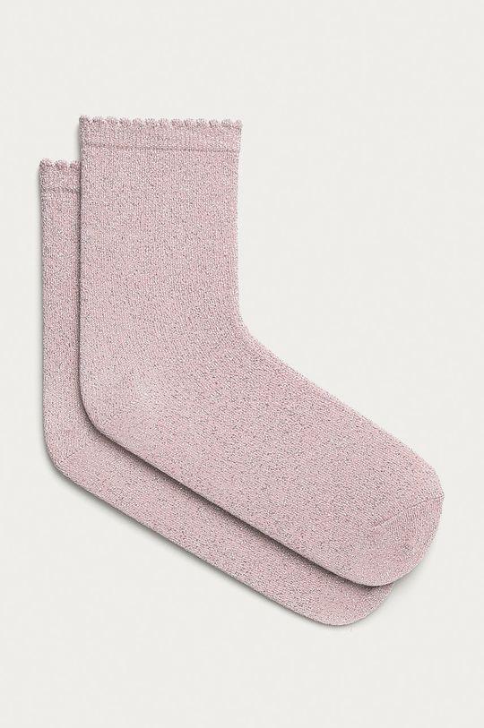 pastelově růžová Pieces - Ponožky Dámský