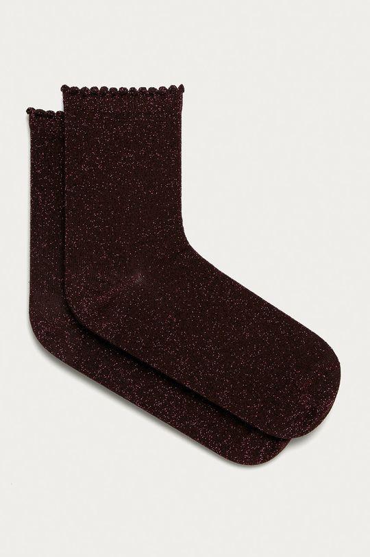 tmavě fialová Pieces - Ponožky Dámský