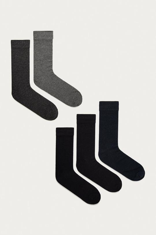 grafitová Jack & Jones - Ponožky (4-pack) Pánský