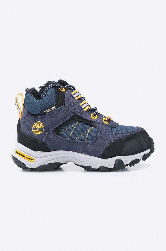 tmavomodrá Timberland - Detské topánky Ossipee Mid Bungee Chlapčenský