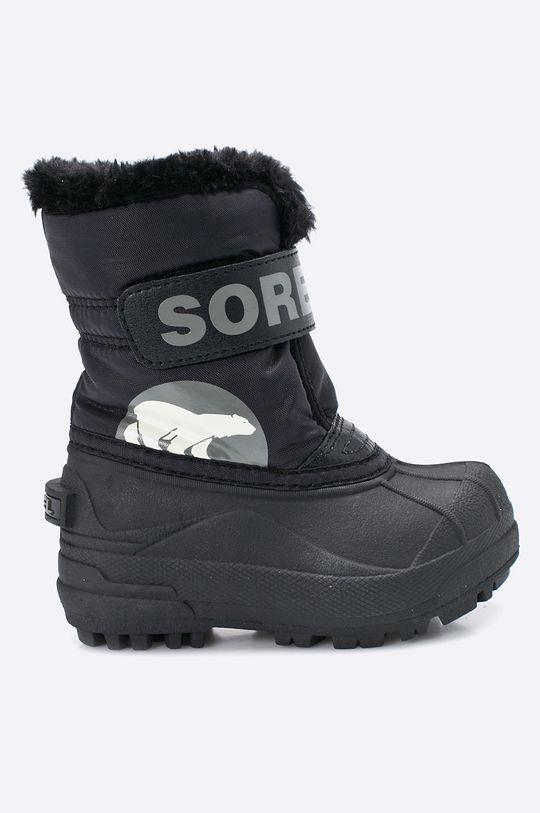 černá Sorel - Dětské boty Children's Snow Commander Chlapecký