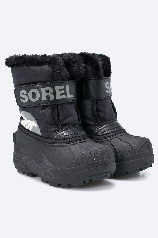 Sorel - Dětské boty Children's Snow Commander černá
