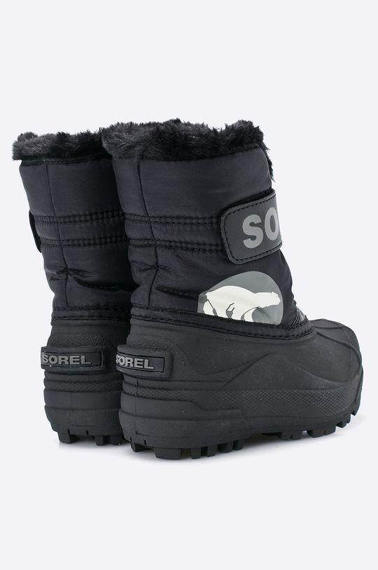 černá Sorel - Dětské boty Children's Snow Commander