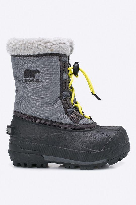 sivá Sorel - Detská zimná obuv Cumberland Chlapčenský