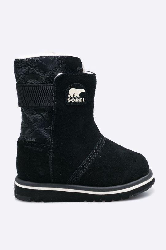 čierna Sorel - Detská zimná obuv Chlapčenský