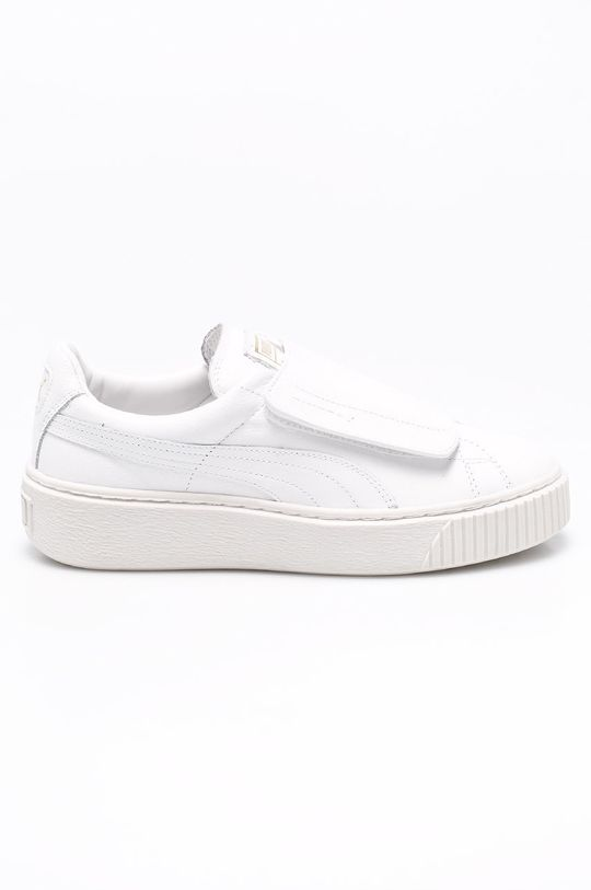 biały Puma - Buty Basket Platform Strap Damski