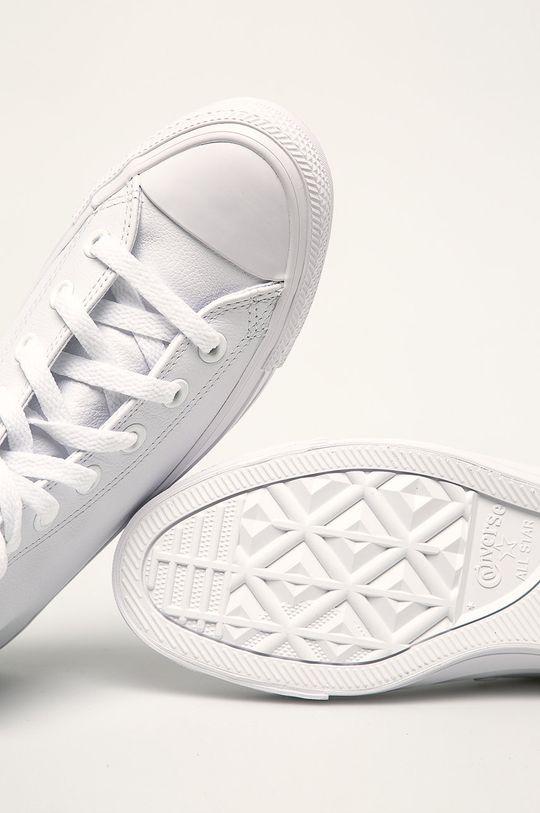 biały Converse - Trampki Chuck Taylor All Star Leather