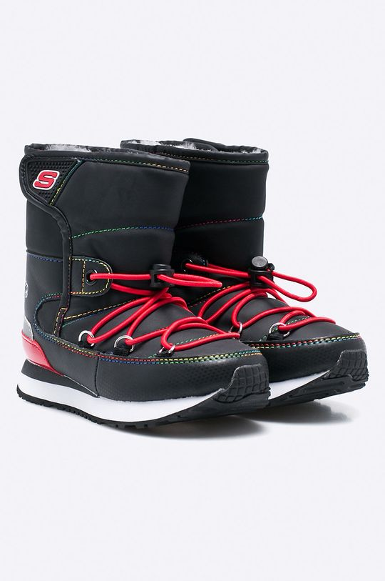Skechers - Detské topánky čierna