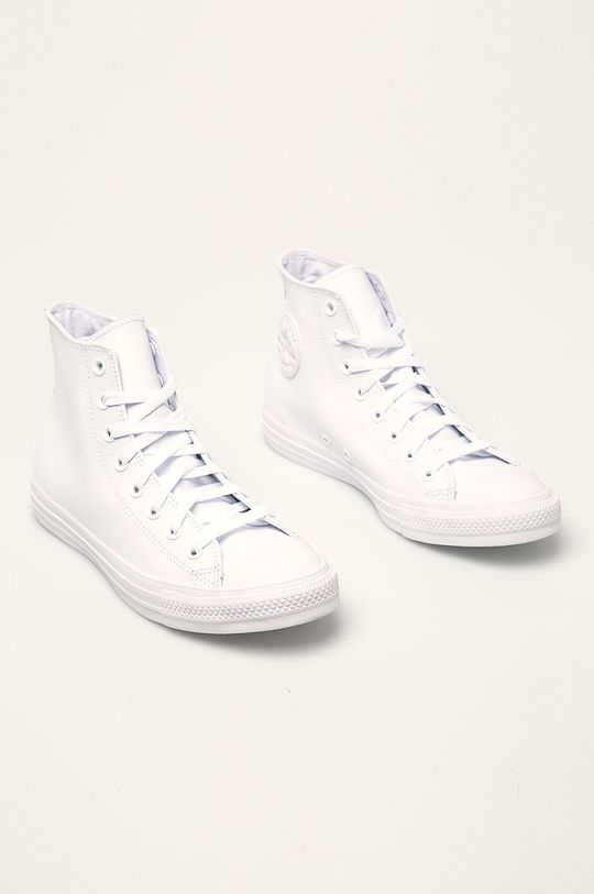 Converse - Tenisi Chuck Taylor All Star Leather alb
