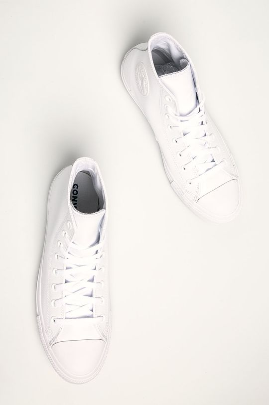 alb Converse - Tenisi Chuck Taylor All Star Leather