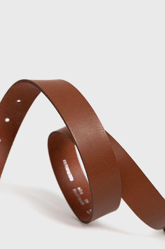 G-Star Raw - Pasek skórzany brązowy