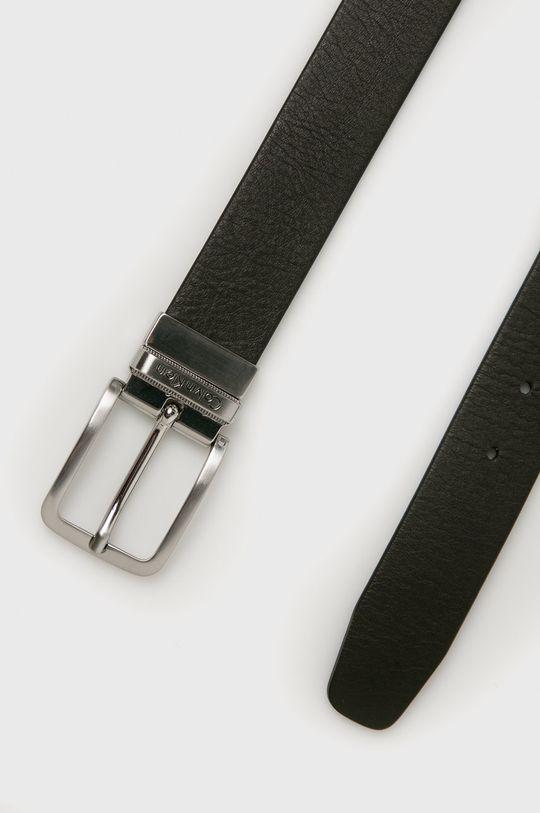 Calvin Klein Jeans - Kožený pásek hnědá