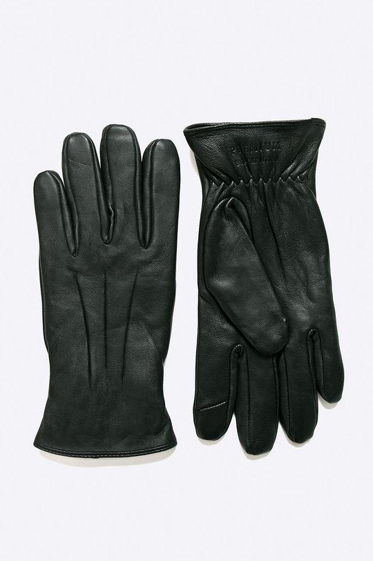 Jack & Jones - Kožené rukavice černá