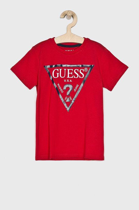 czerwony Guess Jeans - T-shirt dziecięcy 118-175 cm Chłopięcy