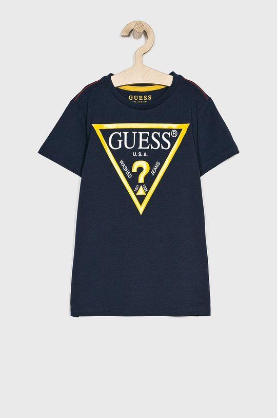 granatowy Guess Jeans - T-shirt dziecięcy 118-175 cm Chłopięcy
