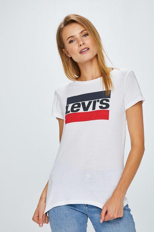 biały Levi's - Top The Perfect Tee Sportswear Damski
