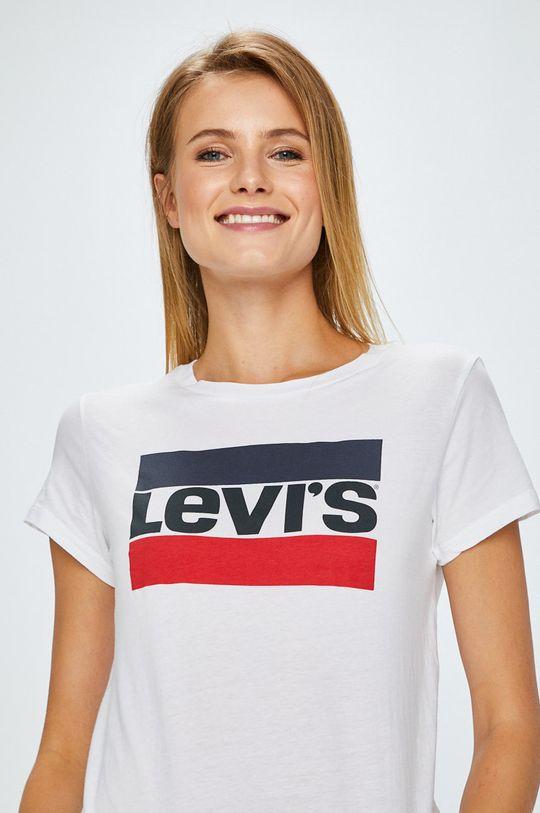 biały Levi's - Top The Perfect Tee Sportswear