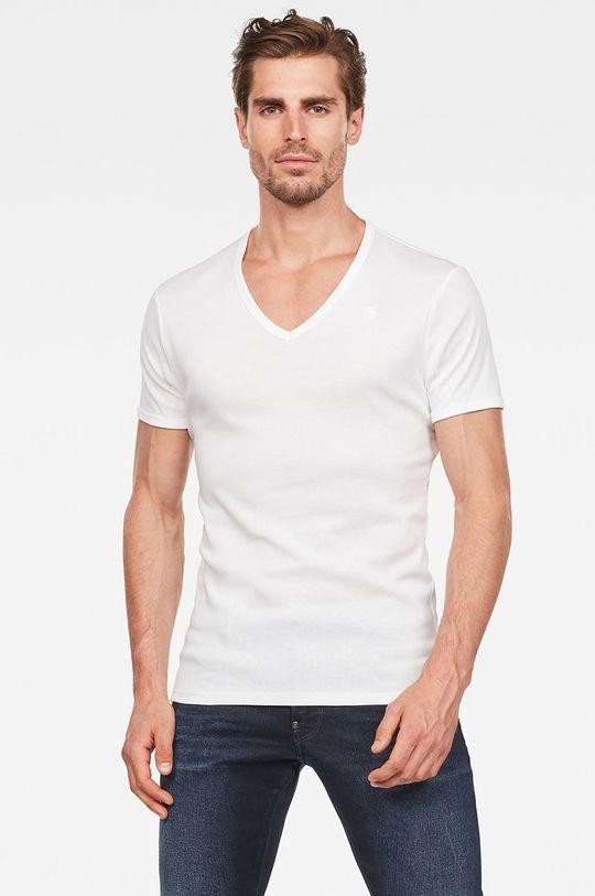 biały G-Star Raw - T-shirt (2-pack) Męski