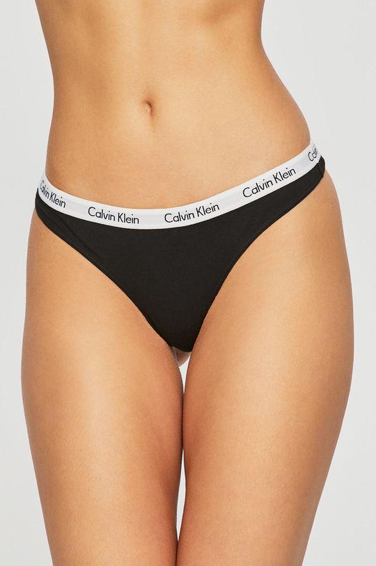 čierna Calvin Klein Underwear - Tangá (3-pak) Dámsky
