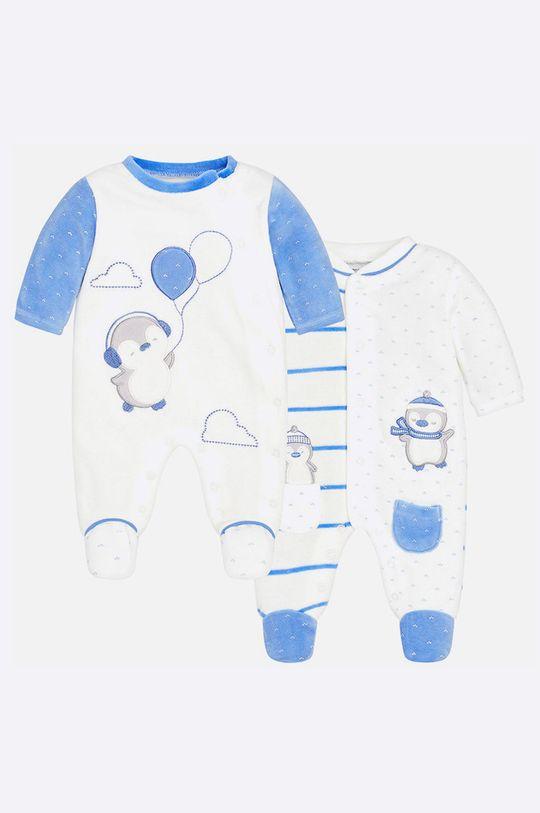 бял Mayoral - Бебешки гащеризон за бебе 55-75 cm (2-бройки) Дитячий