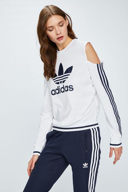 бял adidas Originals - Суичър