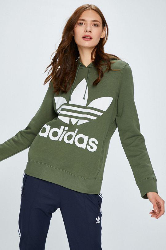 кафяво-зелен adidas Originals - Суичър Жіночий