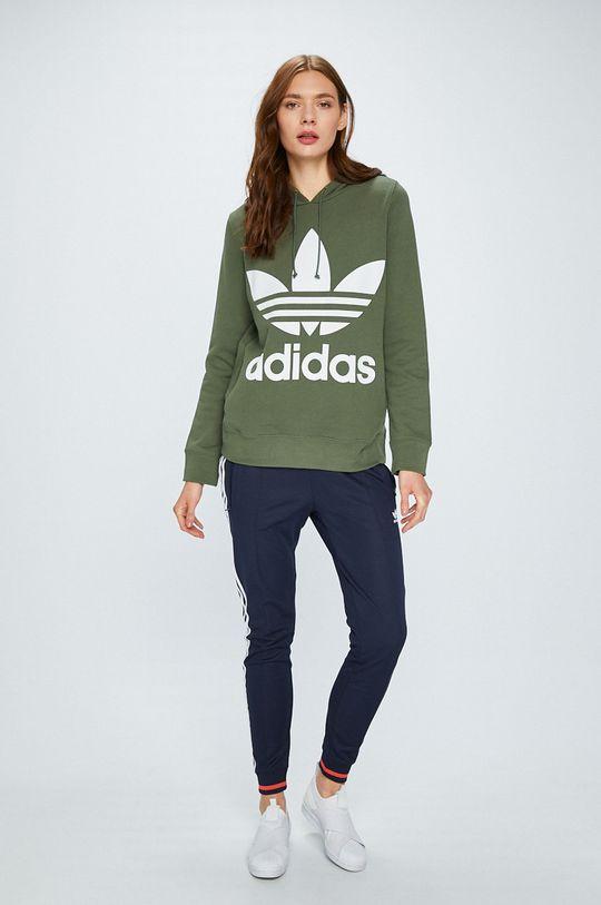 adidas Originals - Суичър кафяво-зелен
