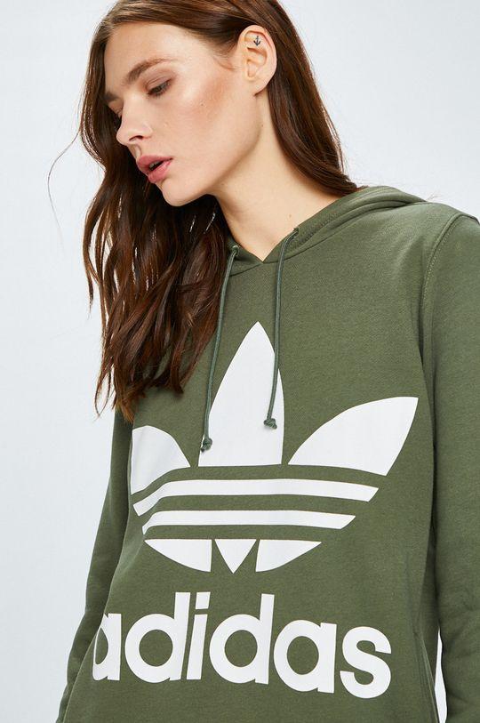 кафяво-зелен adidas Originals - Суичър