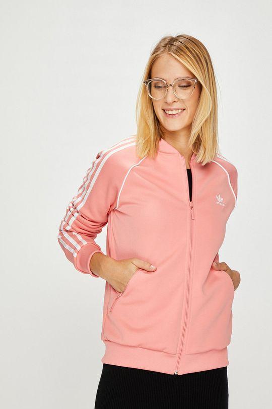 розов adidas Originals - Суичър Жіночий