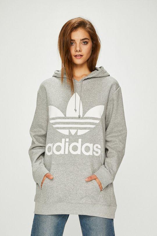 светлосив adidas Originals - Суичър
