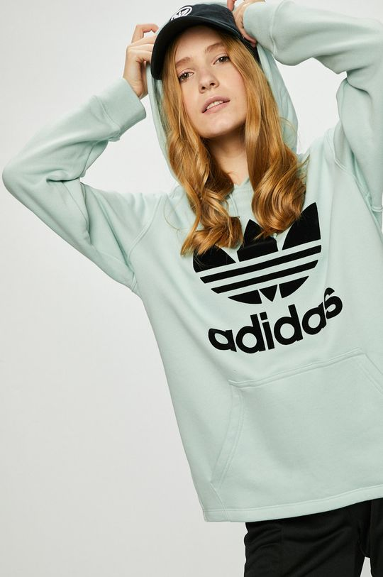 бледозелен adidas Originals - Суичър Жіночий