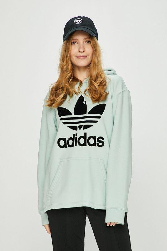 бледозелен adidas Originals - Суичър