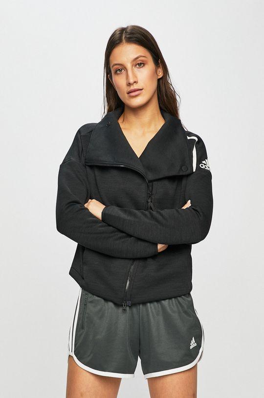 черен adidas Performance - Суичър Жіночий
