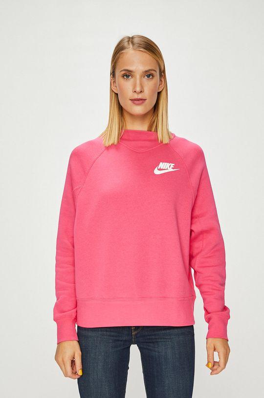 ostrá růžová Nike Sportswear - Mikina Dámský