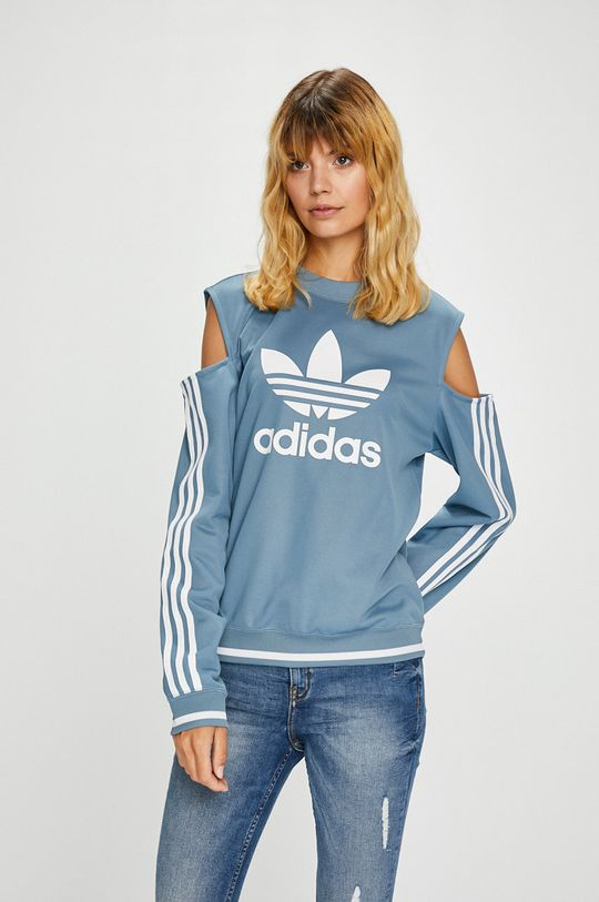 светлосин adidas Originals - Суичър Жіночий