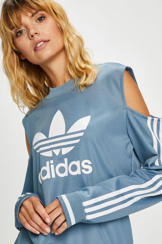 светлосин adidas Originals - Суичър