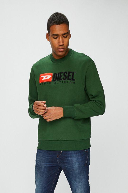 zelená Diesel - Mikina Pánský