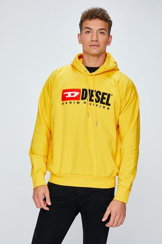 žlutá Diesel - Mikina Pánský