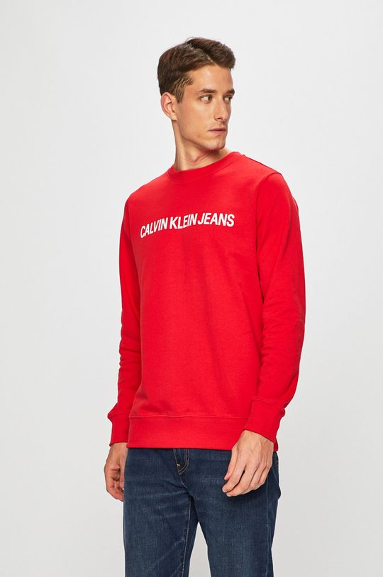 червоний Calvin Klein Jeans - Бавовняна кофта Чоловічий