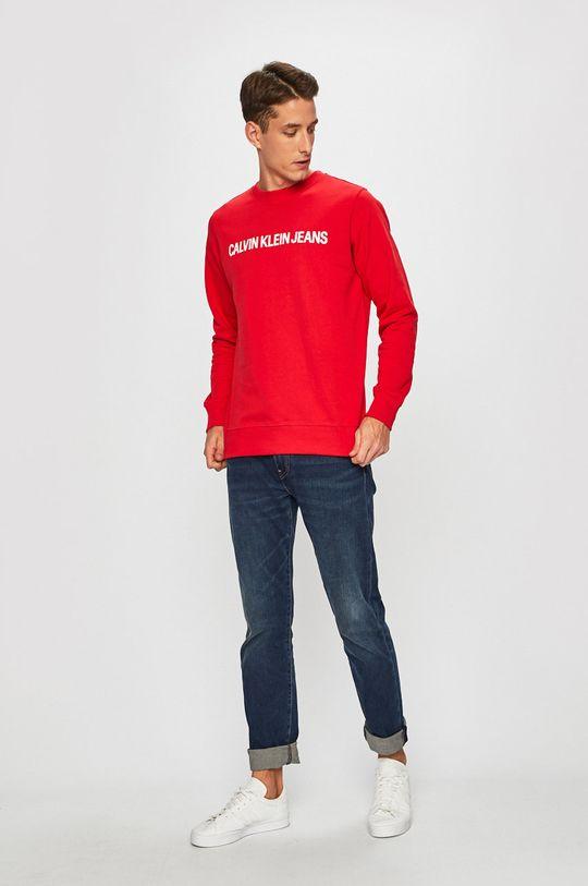 Calvin Klein Jeans - Бавовняна кофта червоний