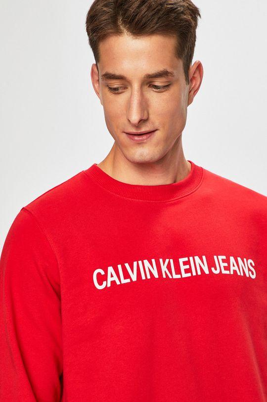 червоний Calvin Klein Jeans - Бавовняна кофта