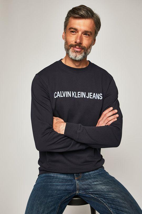 темно-синій Calvin Klein Jeans - Бавовняна кофта