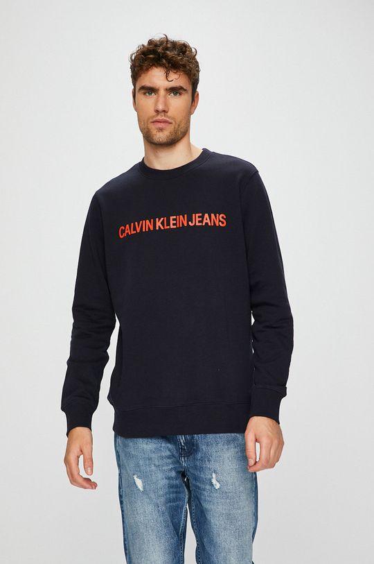 темно-синій Calvin Klein Jeans - Бавовняна кофта Чоловічий