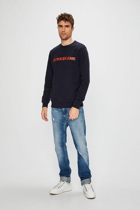 Calvin Klein Jeans - Бавовняна кофта темно-синій