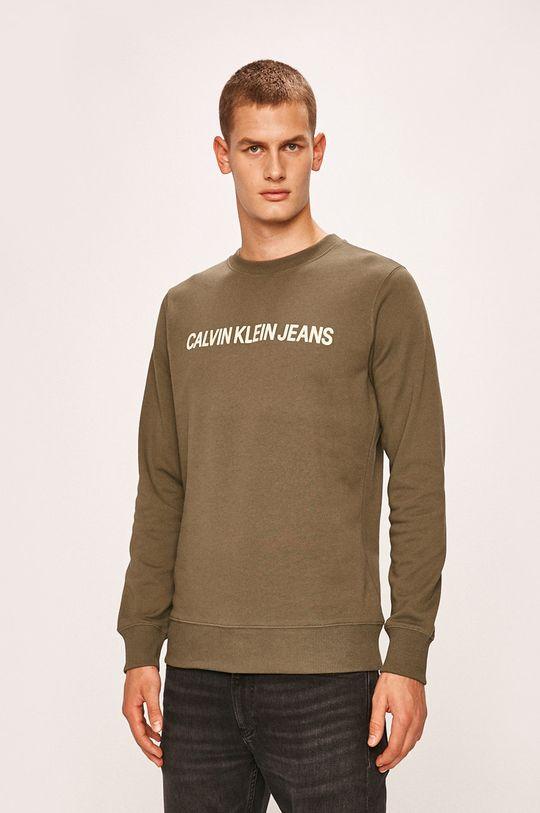 verde Calvin Klein Jeans - Bluza De bărbați
