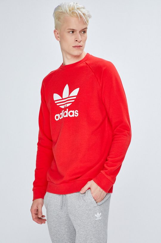 червен adidas Originals - Суичър Чоловічий