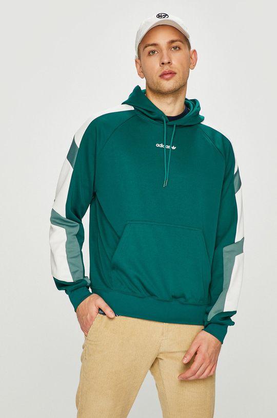 зелено-син adidas Originals - Суичър Чоловічий