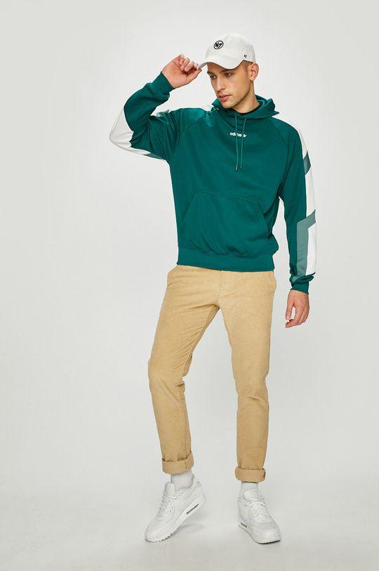 adidas Originals - Суичър зелено-син