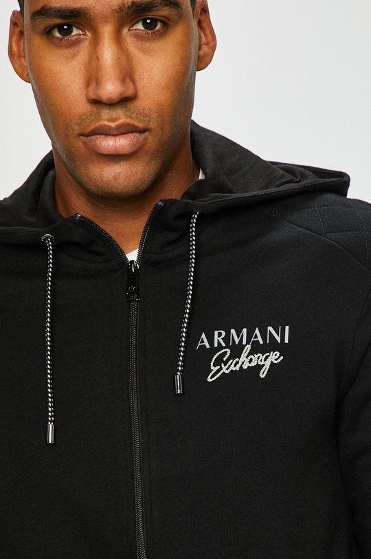 Armani Exchange - Mikina čierna