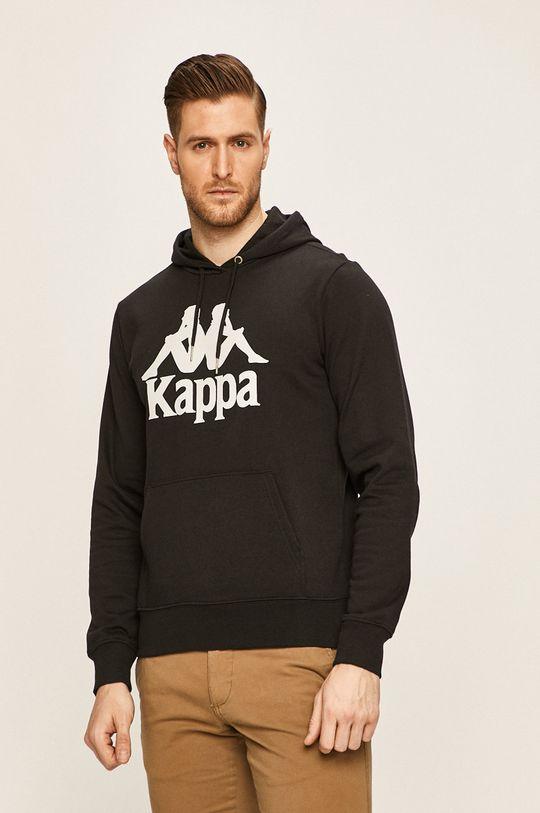czarny Kappa - Bluza Męski
